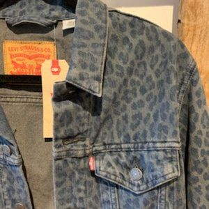 LEVIs Denim Jacket Leopard Print NWT (S)